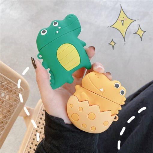 Cute Cartoon Crocodile Premium AirPods Case Shock Proof Cover