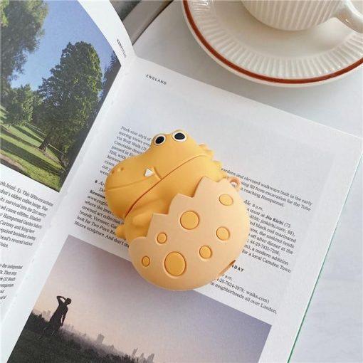 Cute Dinosaur Egg Premium AirPods Case Shock Proof Cover