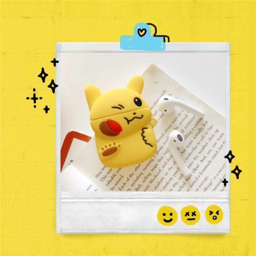 Pokemon 'Pikachu   Battle' Premium AirPods Case Shock Proof Cover