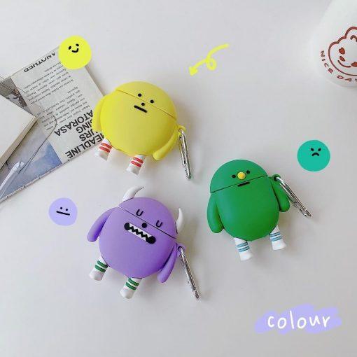 Cute Cartoon Monster Premium AirPods Case Shock Proof Cover