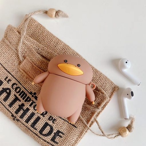 Cartoon Duck 'Walking' Premium AirPods Case Shock Proof Cover