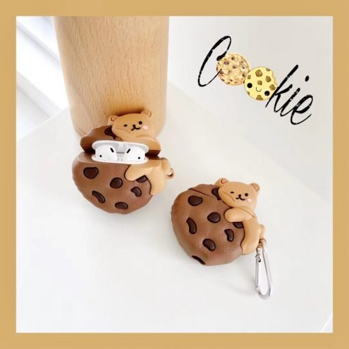Bear Hugging a Cookie Premium AirPods Case Shock Proof Cover
