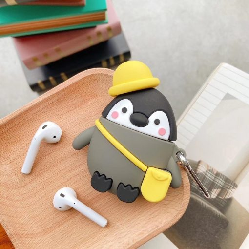 Penguin 'Going on an Adventure' Premium AirPods Case Shock Proof Cover