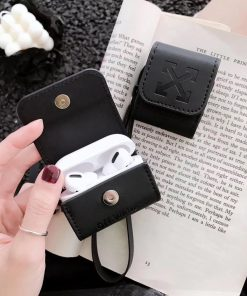 Off White Vegan Leather Airpods Pro Holster