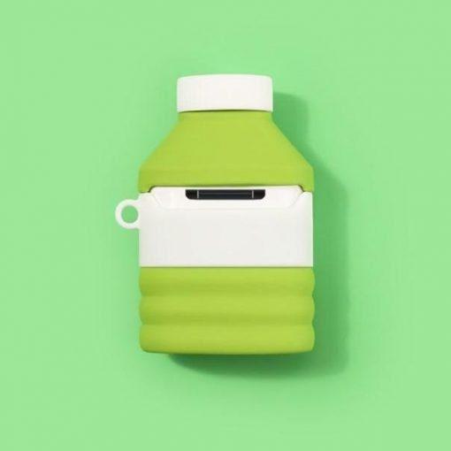Korean Kiwi Milk Tea Premium AirPods Case Shock Proof Cover