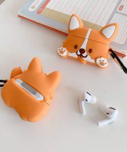 Cute Cartoon Corgi Dog Premium AirPods Pro Case Shock Proof Cover