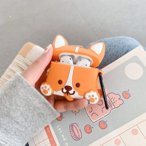 Cute Cartoon Corgi Dog Premium AirPods Case Shock Proof Cover