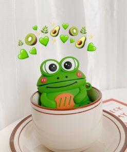 Cute Cartoon Happy Frog Premium AirPods Case Shock Proof Cover