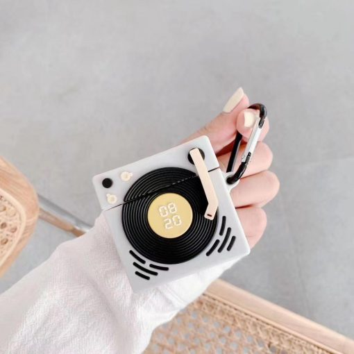 Retro Phonograph Record Player Premium AirPods Pro Case Shock Proof Cover