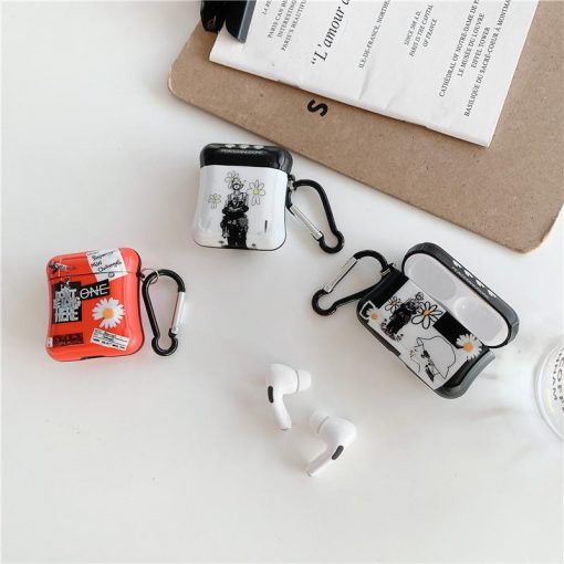 Fragment Daisy Graffiti AirPods Case Shock Proof Cover
