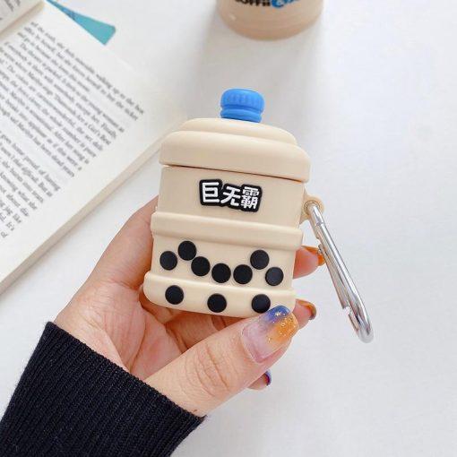 Barreled Japanese Milk Bubble Tea Premium AirPods Case Shock Proof Cover