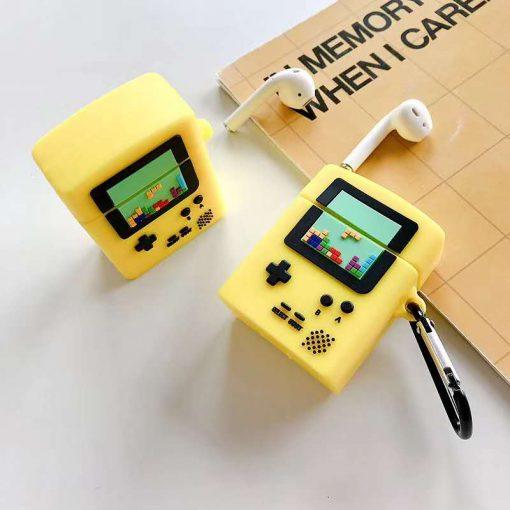 Retro Tetris Game Console Premium AirPods Case Shock Proof Cover