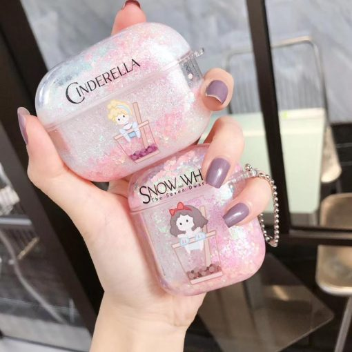 Cinderella 'Bubble Tea' AirPods Pro Case Shock Proof Cover