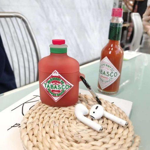 Tabasco Hot Sauce Premium AirPods Case Shock Proof Cover