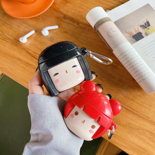 Cute Japanese Doll Premium AirPods Case Shock Proof Cover