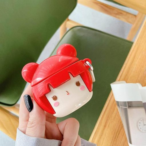 Cute Japanese Doll Premium AirPods Pro Case Shock Proof Cover