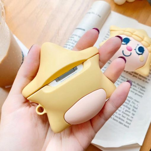 Cute Yellow Star Girl Premium AirPods Case Shock Proof Cover