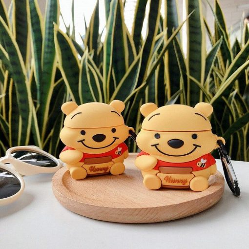 Winnie the Pooh 'Sitting Poo | Honey' Premium AirPods Case Shock Proof Cover