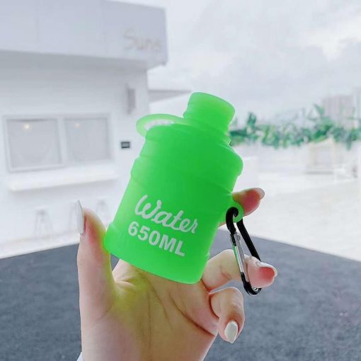 Candy Color Water Bottle Premium AirPods Case Shock Proof Cover