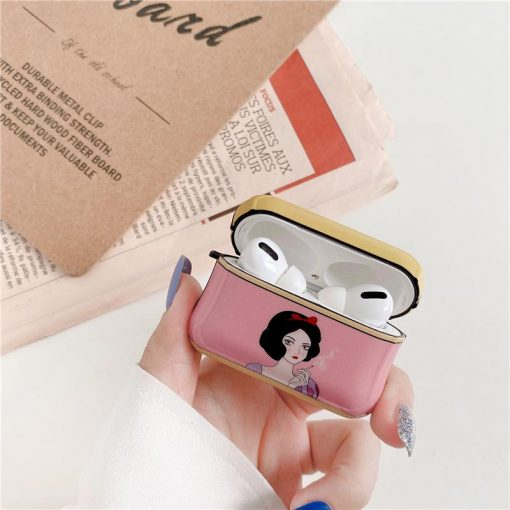 Snow White 'Resting B' Face' AirPods Pro Case Shock Proof Cover