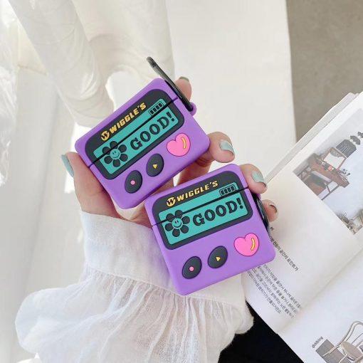 Cute Beeper 'Wiggles   Heart' Premium AirPods Case Shock Proof Cover
