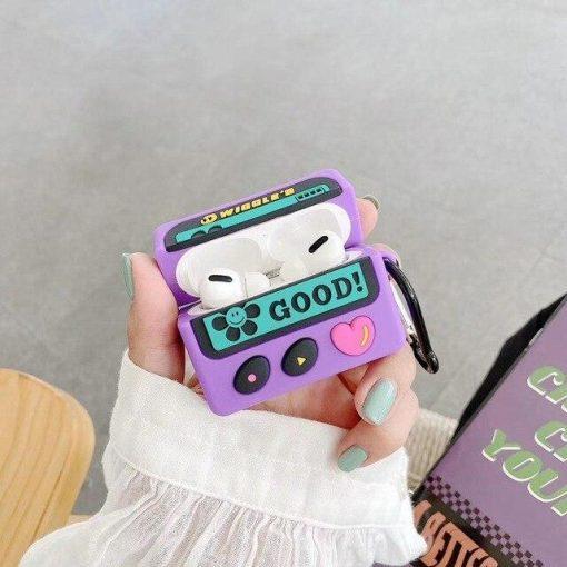 Cute Beeper 'Wiggles | Heart' Premium AirPods Pro Case Shock Proof Cover