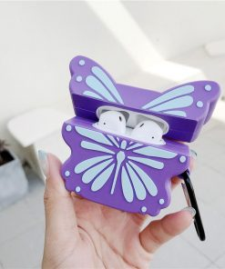 Purple Butterfly Premium AirPods Case Shock Proof Cover