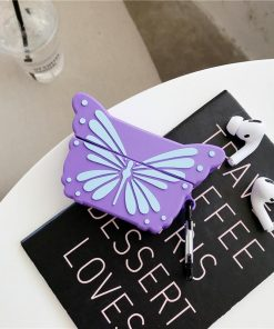 Purple Butterfly Premium AirPods Pro Case Shock Proof Cover