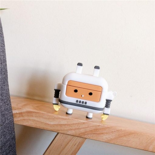 Cute Robot Premium AirPods Case Shock Proof Cover