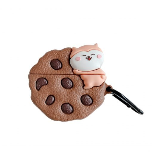 Cat Hugging a Cookie Premium AirPods Case Shock Proof Cover