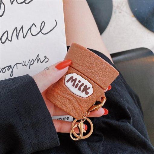 Chocolate Milk Premium AirPods Case Shock Proof Cover