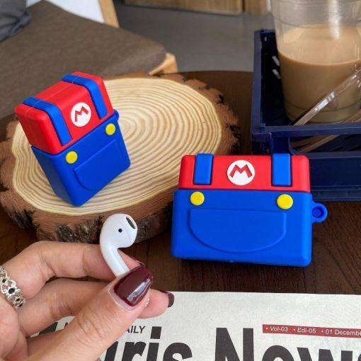 Super Mario Bros 'Buttons' Premium AirPods Case Shock Proof Cover