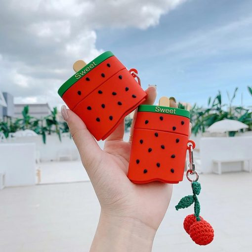 Strawberry Ice Cream Bar Premium AirPods Pro Case Shock Proof Cover