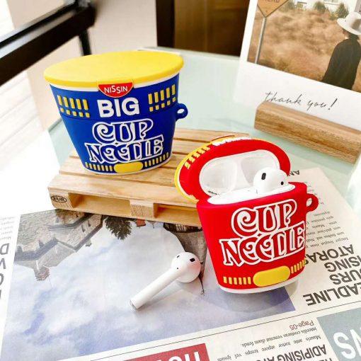 Big Cup Noodles Instant Noodles Premium AirPods Case Shock Proof Cover