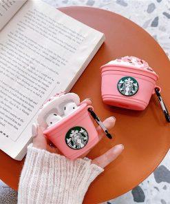 Starbucks 'Strawberry Frappuccino' Premium AirPods Case Shock Proof Cover