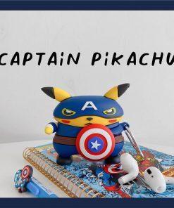 Pokemon 'Pikachu | Captain America' Premium AirPods Pro Case Shock Proof Cover