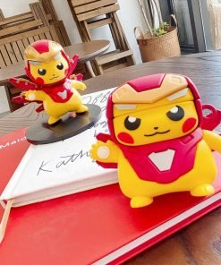 Pokemon 'Pikachu | Iron Man' Premium AirPods Case Shock Proof Cover