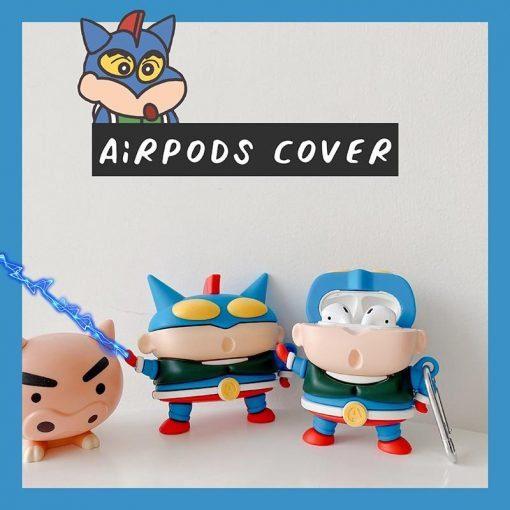 Shin Chan 'Action Kamen | 2.0' Premium AirPods Case Shock Proof Cover
