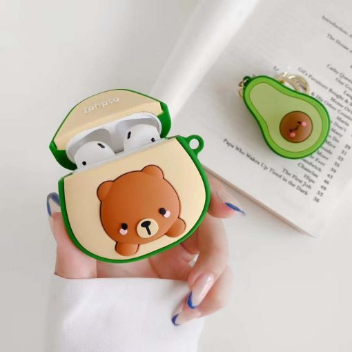 Bear in an Avocado Premium AirPods Case Shock Proof Cover