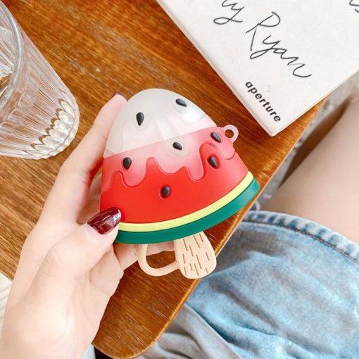 Watermelon Ice Cream Premium AirPods Case Shock Proof Cover