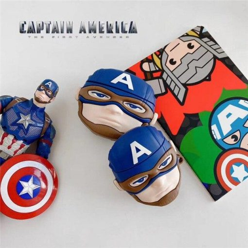 Captain America 'The First Avenger' AirPods Case Shock Proof Cover