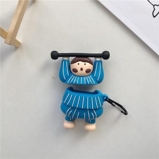 Cute Weightlifter Premium AirPods Case Shock Proof Cover