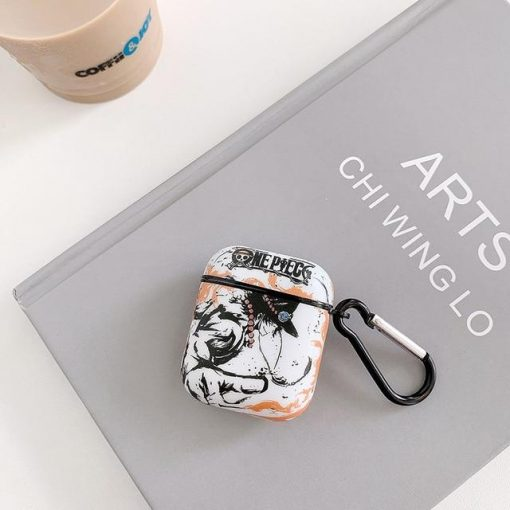 One Piece 'Ace | Luffy | Monochromatic' AirPods Case Shock Proof Cover