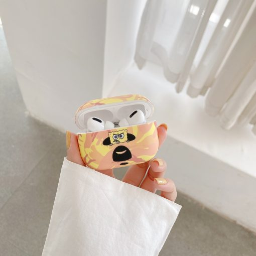 Spongebob 'Bathing Ape' AirPods Pro Case Shock Proof Cover