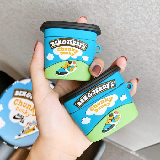 Ben and Jerry's 'Chunky Dunky   Pint' Premium AirPods Case Shock Proof Cover