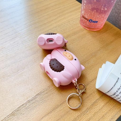Pig Eating a Cookie Premium AirPods Pro Case Shock Proof Cover
