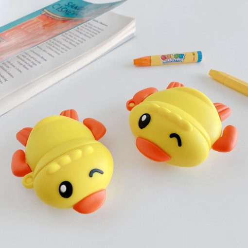 Swimming Yellow Ducky Premium AirPods Case Shock Proof Cover