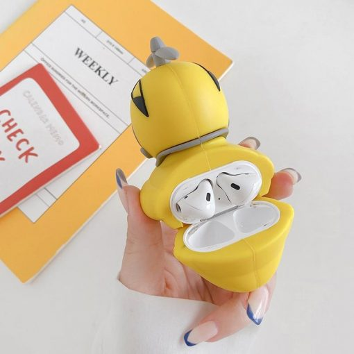 Rubber Ducky in Pikachu Helmet Premium AirPods Case Shock Proof Cover