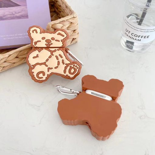 Stitched Teddy Bear Premium AirPods Case Shock Proof Cover