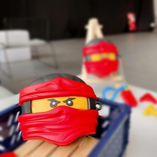 Lego Man 'Ninja   Red' Premium AirPods Pro Case Shock Proof Cover